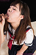 Kogal Yamamoto Rena sucking cock in uniform cum in mouth