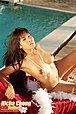 Breasty Thai girl Nicha Chong strips undies beside swimming pool