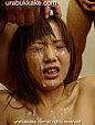 Kogal Chihiro has her face covered in bukkake cumshots