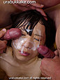 Kogal Kanon sucks cock for group of men and takes their facials